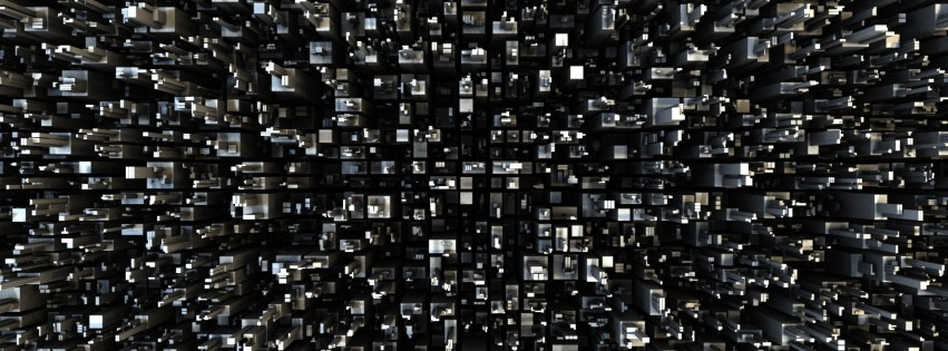 Wallpaper-Black-And-White-3d-Squares-315x851